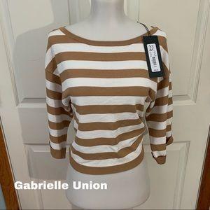 Gabrielle Union New NWT Size XS x-small top stripe